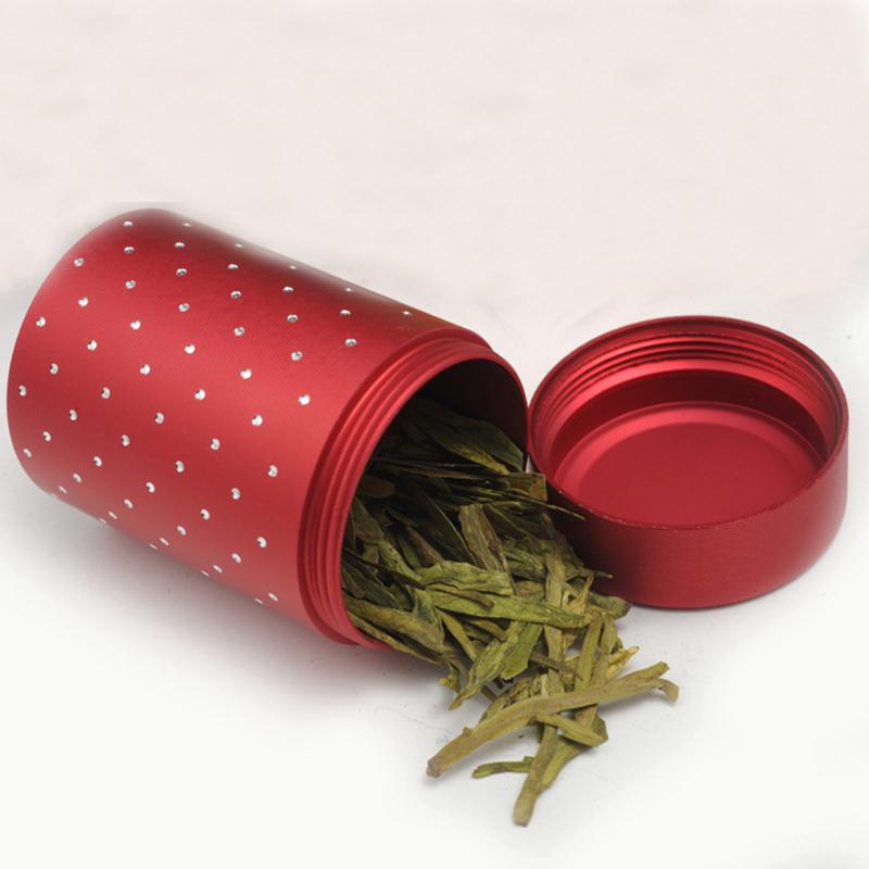 Metal Alloy Tea Container Coffee Sugar Storage Holder Box Sealed Can Tin Jar