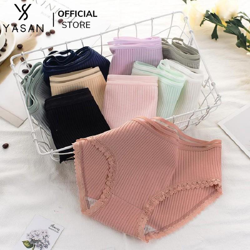 Quần lót nữ cotton tăm co dãn kháng khuẩn quần chip hot trend nội y mặc trong váy đầm thoáng mát Yasan