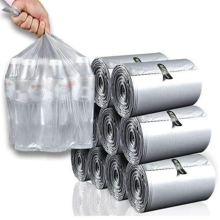 Cuộn 110 túi đựng rác tự hủy bạc