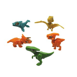 Plastic DIY Assemble Dinosaur Toy Small Tyrannosaurus Block Pterosaur Model