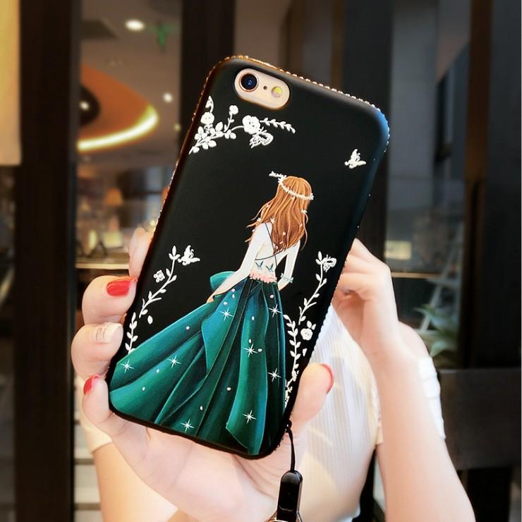 Ốp lưng iPhone 6 / iPhone 6S đính đá nữ thần