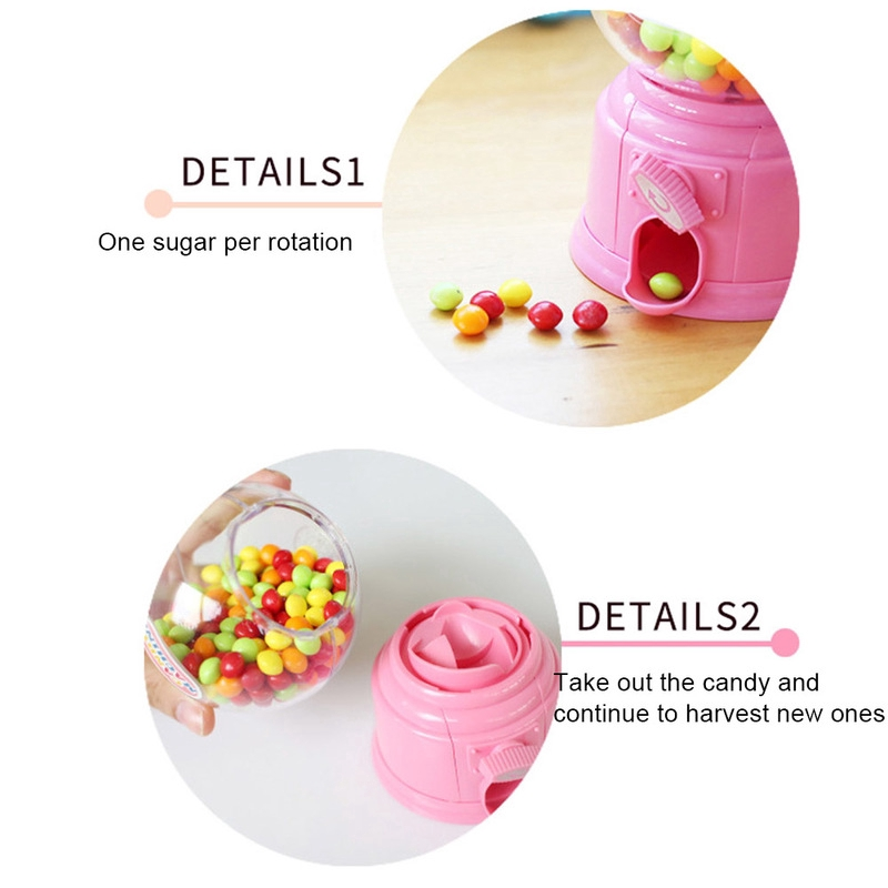 Sweet Candy Dispenser Machine Coin Gumball Gum Ball Snacks Kids Lovely Toy Gifts