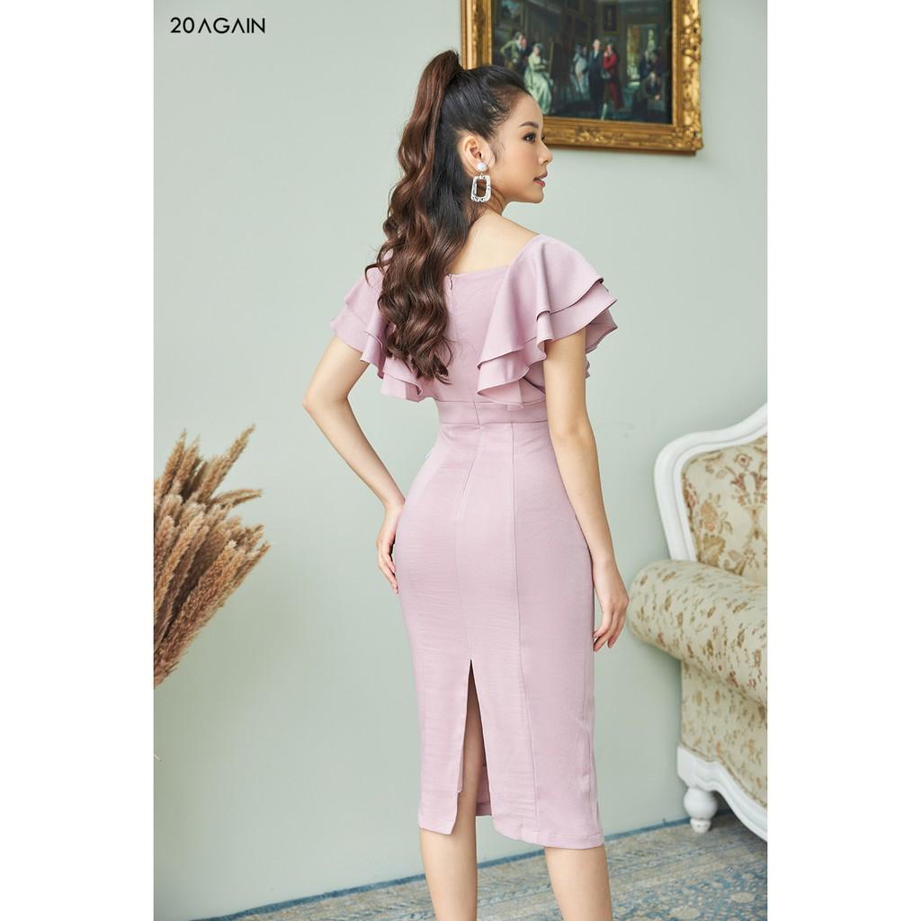 Mặc gì đẹp: Sang trọng với Đầm ôm bèo 2 bên vai 20AGAIN thiết kế tôn dáng trẻ trung quyến rũ DOA1166