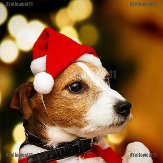 AYellowcat Christmas pet santa hat small puppy cat dog xmas holiday costume ornaments