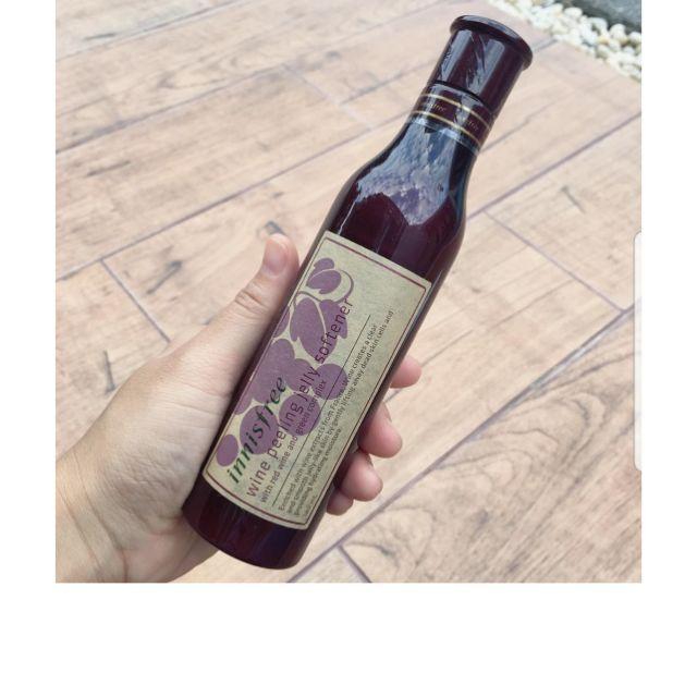 Tẩy da chết gel Innisfree Wine Peeling Jelly Softener