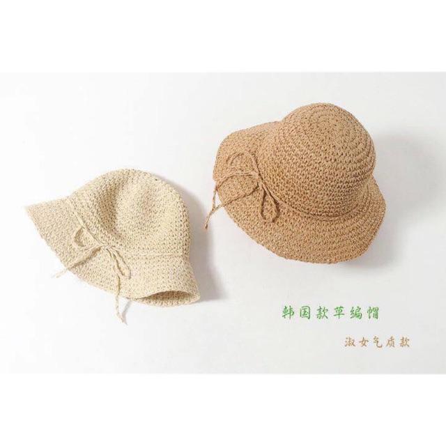 Mũ sợi đay mẹ và bé
