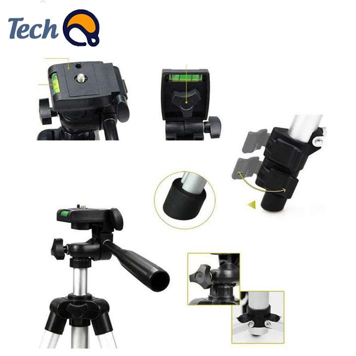 Chân máy ảnh cao cấp, tripod điện thoại tặng kèm đầy đủ phụ kiện, chiều cao tối đa 1 mét 1 - BH 12 tháng