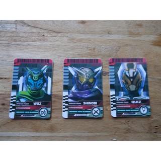 Card Kamen Rider Woz, Shinobi, Quiz FBTS so