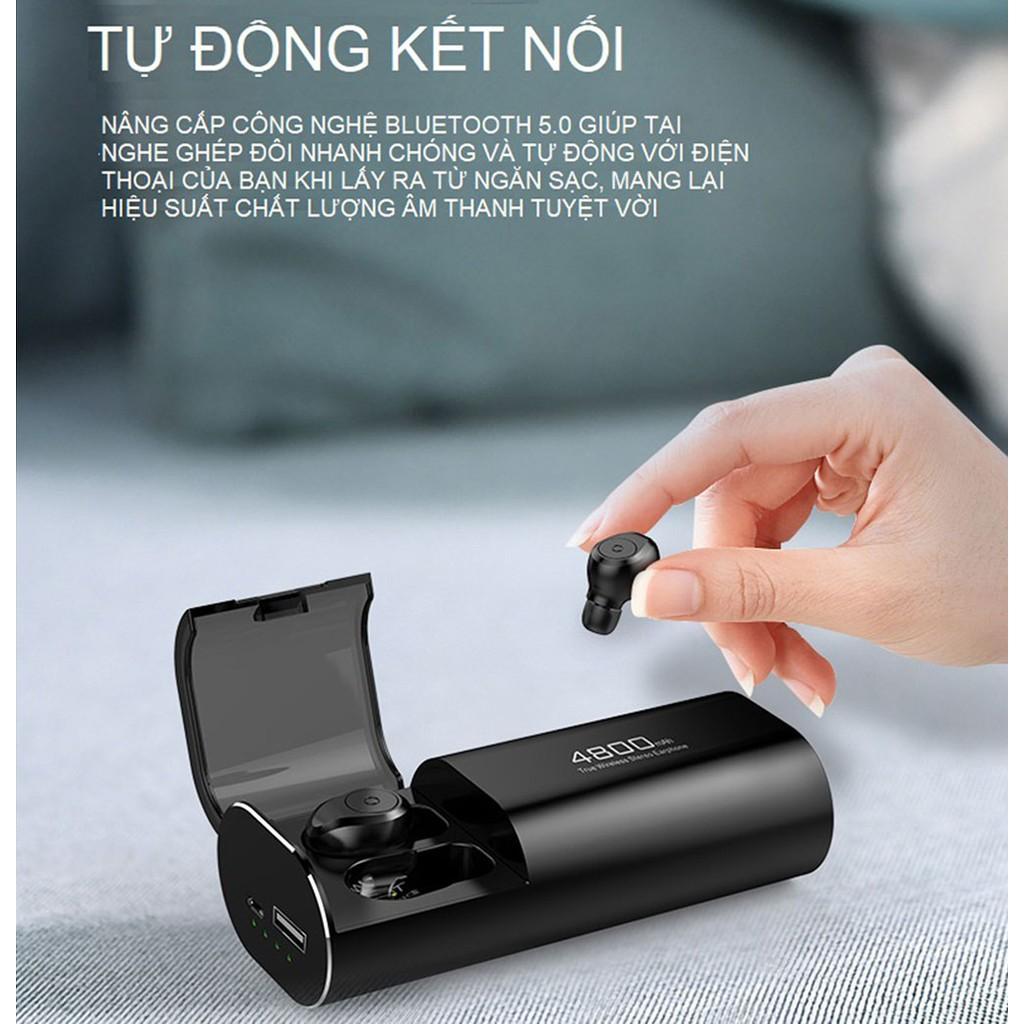 [Mã SKAMA07 giảm 8% đơn 250k]Tai nghe TWS không dây Bluetooth Amoi S11 - Pin 4800mah - Chống nước IPX7 - Bluetooth 5.0