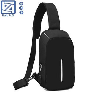 Túi đeo chéo nam nữ có cổng USB, cổng tai nghe, chống trộm, chống nước BALO 4.0