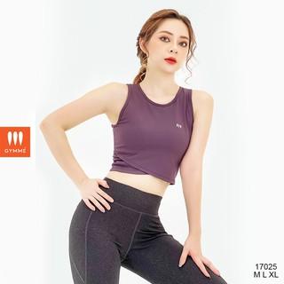 Áo tập gym yoga nữ dáng croptop thể thao ba lỗ GYMME - 17025 thumbnail