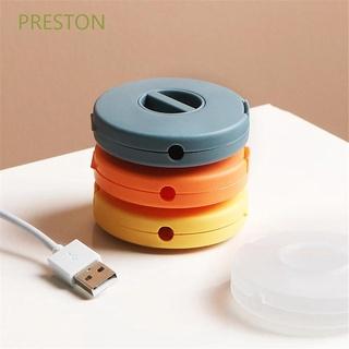 PRESTON Mini Cable Winder Wire Cable Organizer Cable Clips Portable Data Line Round|USB Charging Cord Holder/Multicolor