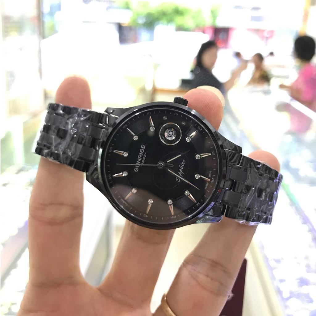 Đồng hồ nam SUNRISE 1222SA full hộp, Kính Sapphire chống xước chống nước tuyệt đối