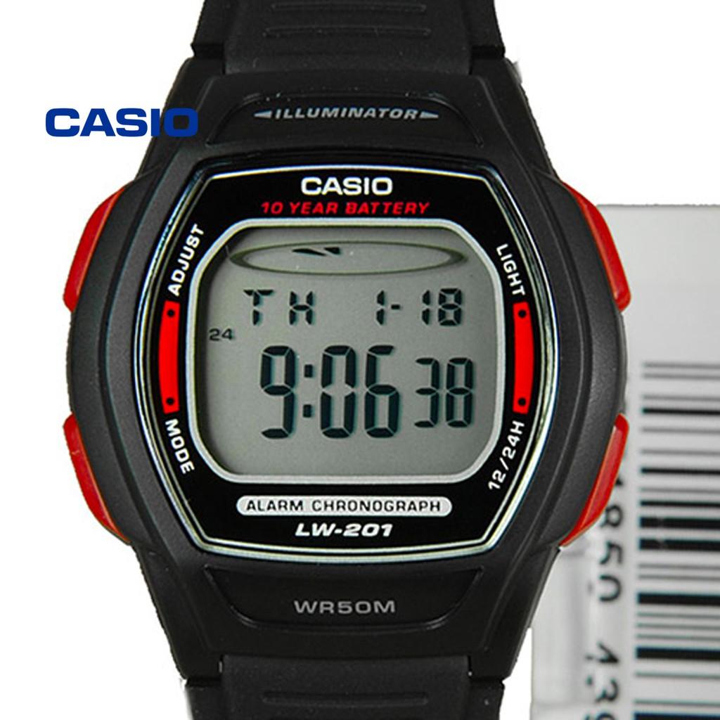 Đồng hồ nữ Casio LW-201-4AVDF (đỏ) chính hãng - Bảo hành 1 năm, Thay pin miễn phí