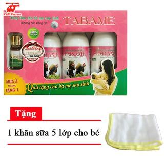 ✅ [TẶNG QUÀ] Set Tabame (3 chai) – Nước xông tắm cho bà mẹ sau sinh | Hỗ trợ điều trị sản hậu, giúp thư giãn, tốt cho da