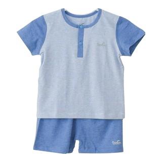 [Mã KIDMALL12 hoàn 15% xu đơn 150K] Bộ quần áo cộc tay bổ trụ cổ Bamboo by LIL thumbnail
