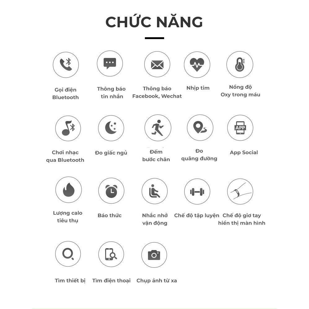 Đồng Hồ Thông Minh T500 - Thay Hình Nền, Đo nhịp tim, Smart Watch T500,kèm đế sạc theo đồng hồ gdv56