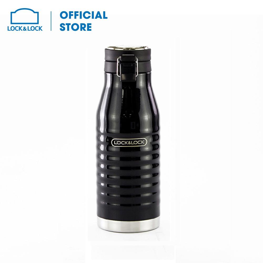 Bình giữ nhiệt Lock&Lock Wave Bottle 600ml Màu đen [LHC4150BLK]