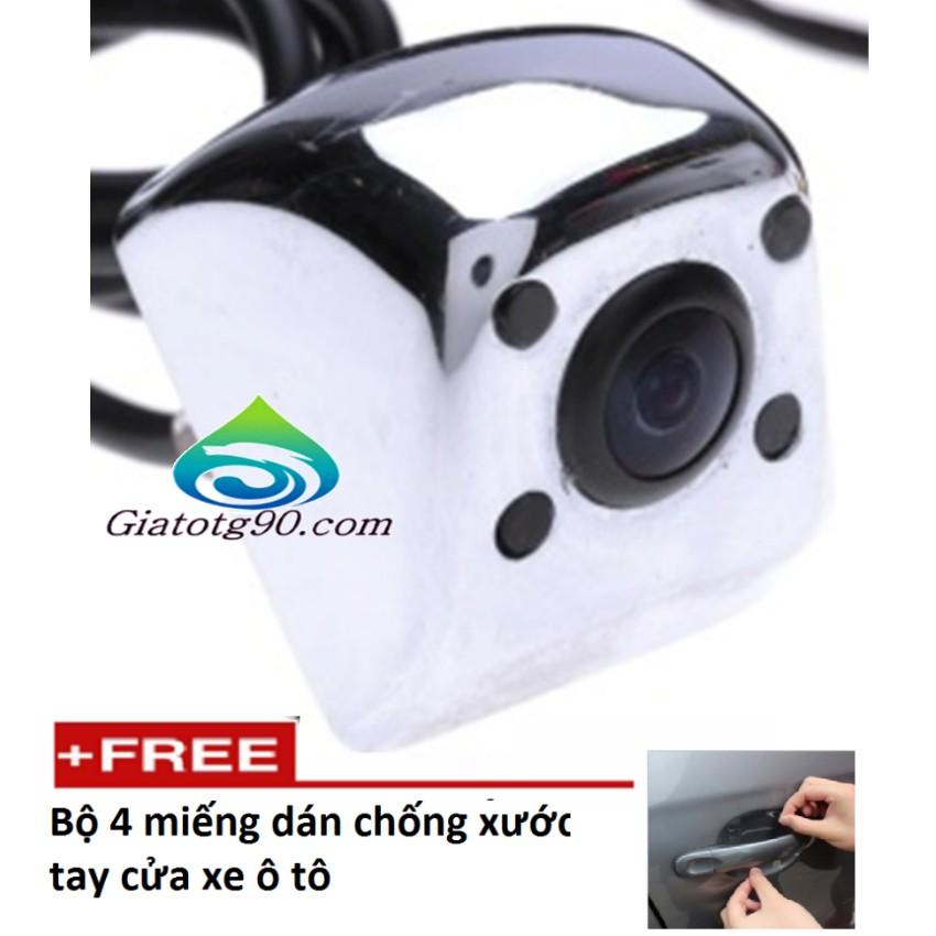 Camera lùi 4 mắt hồng ngoại cho oto 206466 tặng bộ 4 miếng dán chống xước tay nắm cửa xe