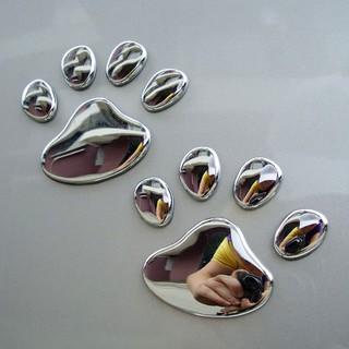 Miếng dán chân chó 3D - chất liệu PVC - trang trí ô tô CỰC ĐỘC
