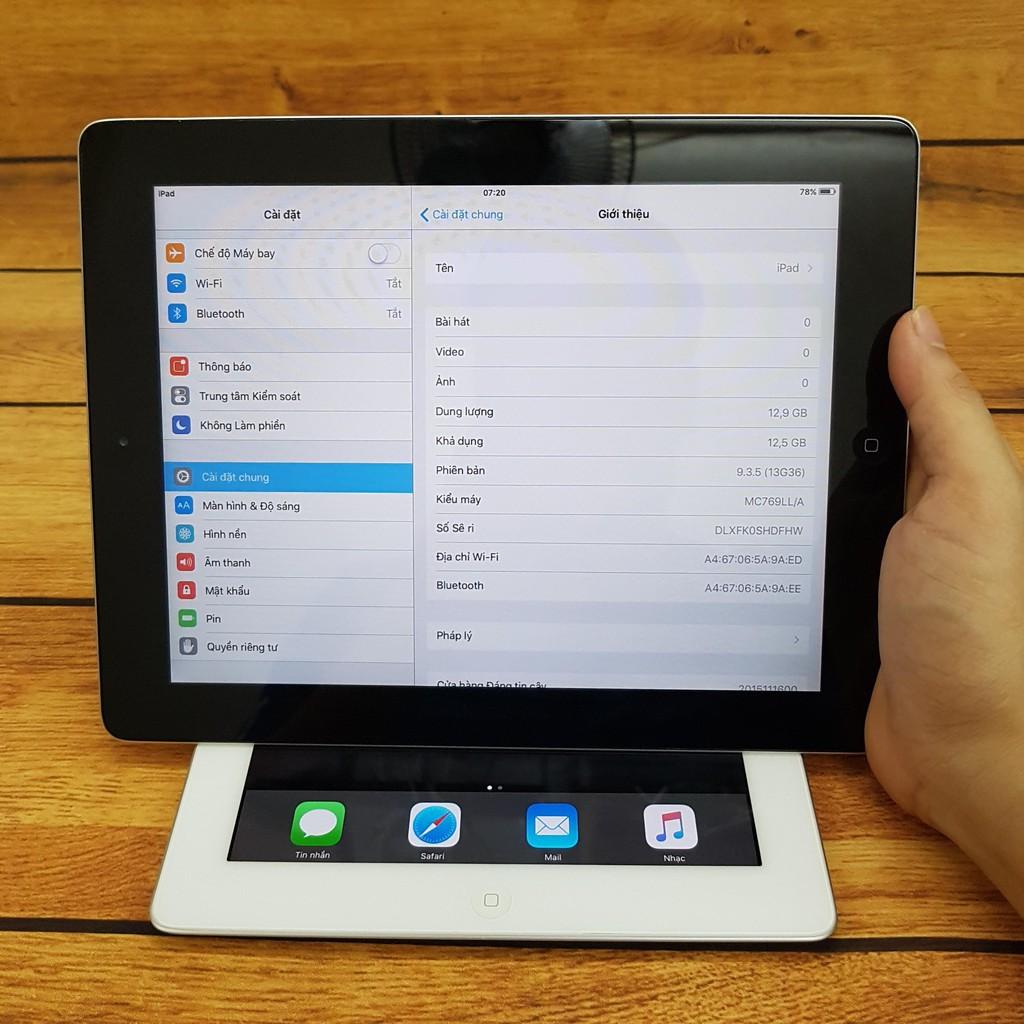 Máy tính bảng iPad 2 wifi chính hãng Apple(bao da + cường lực)).