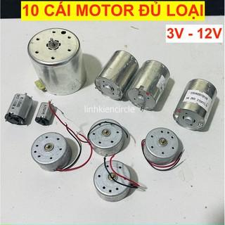 10 cái motor mini đủ loại 3V – 12V dùng học tập DIY – LK0372