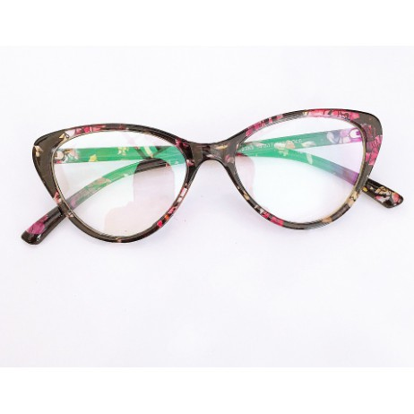 Cắt kính mắt cận-loạn Gọng kính cận dẻo mắt mèo 2383