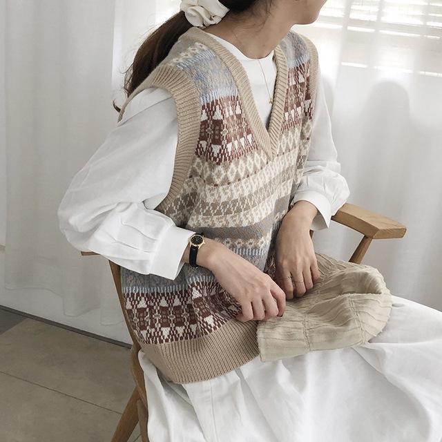 [Mã CBS2911B hoàn 15% tối đa 30K xu đơn 120K] Áo len sát nách phong cách thời trang thu đông dành cho nữ