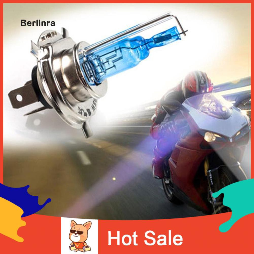 ●BE H4 Halogen Xenon Hid Headlight Headlamp 3 Contactors Super White Bulbs 12V 35W