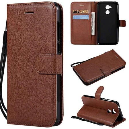 For Huawei honor 6A Flip Simple Leather Wallet Cell Case