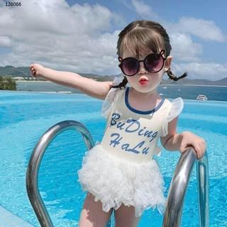 [Hàng cực đẹp] Bikini đồ bơi liền thân công chúa bikini thiên nga đi biển cực xinh cho bé gái (ảnh thật khách chụp) Đẹp