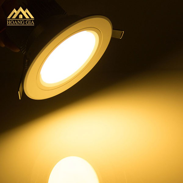 Đèn Led Âm Trần ÁNH SÁNG VÀNG 3000K Tiết Kiệm Điện 6W 9W 12W GIÁ TỐT