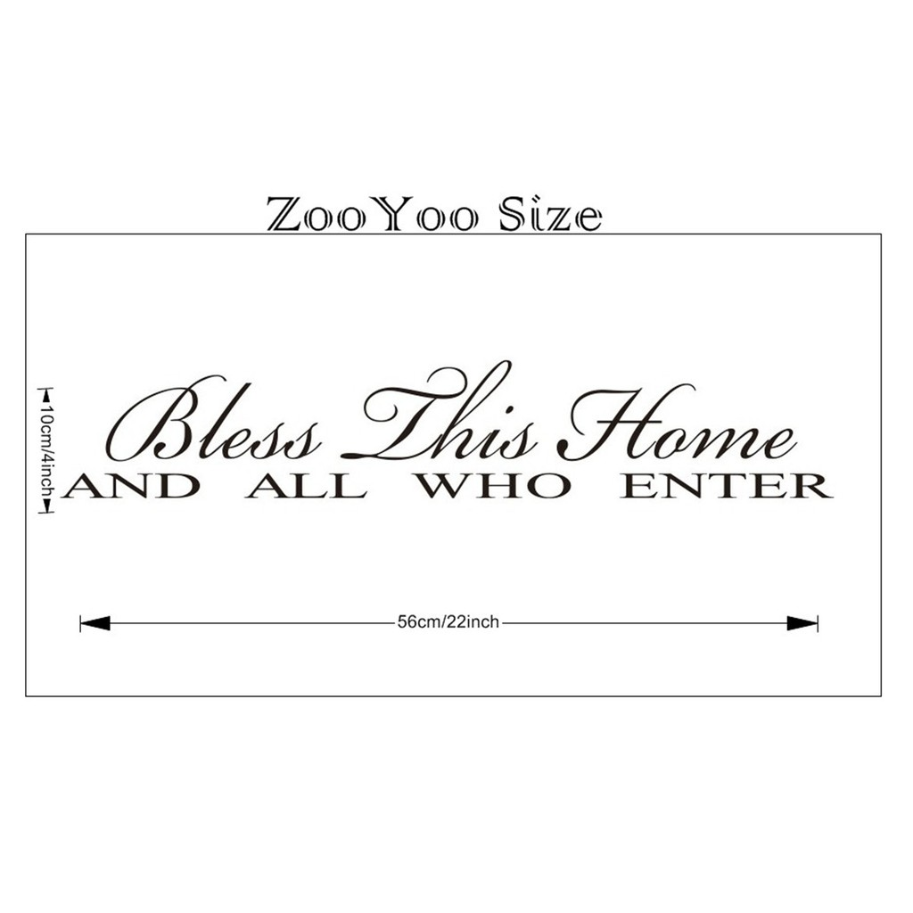 8091/22*4/BlessThhisHome wall sticker