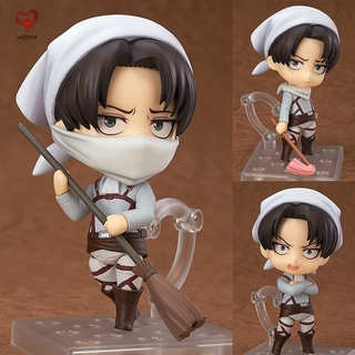 Attack on Titan Levi Ackerman PVC Figure Changeable Face Cute Anime Action Figure Model Toy