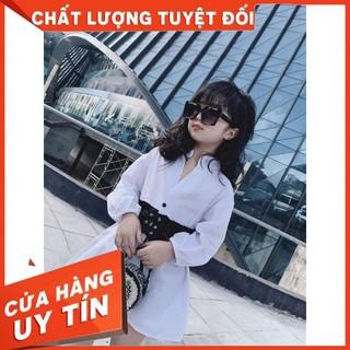 Váy áo sơ mi Cao Cấp bé gái FREE SHIP Váy sơ mi đai eo Hot Trend bé gái An Nguyễn Kids thumbnail