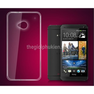 Ốp lưng silicon dẻo trong suốt HTC J ONE 802T, HTC One M7 2 sim thumbnail