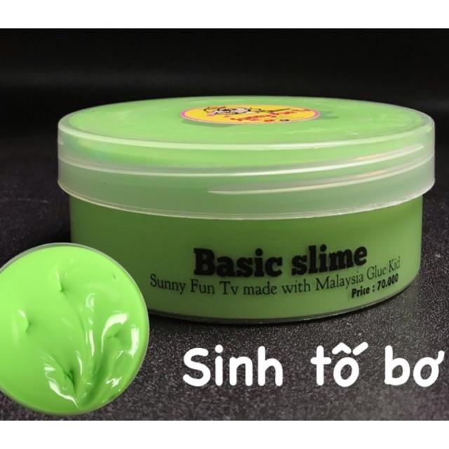 [Nhập mã TOYJUNE giảm 10K]Slime Basic Chất Malaysia ( Xanh bơ)
