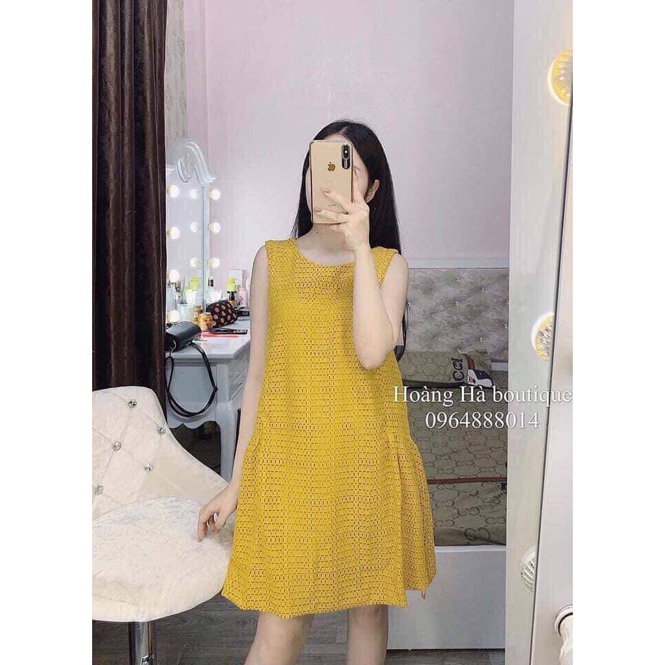Váy ren về hàng 2 màu vàng đen