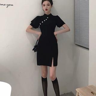 váy trung hoa cách tân xẻ tà