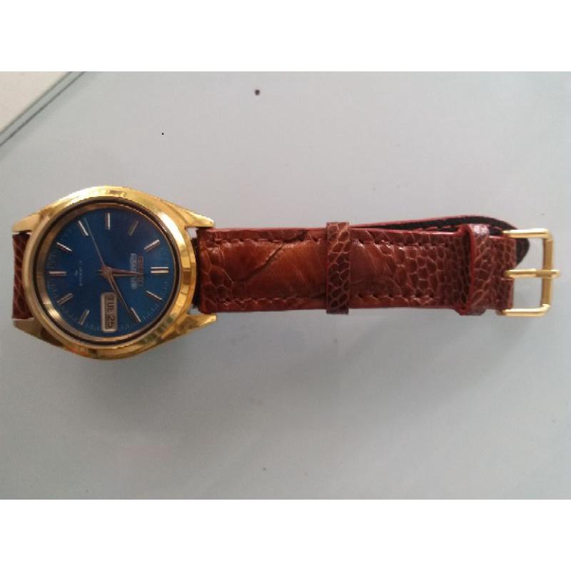 Đồng hồ hiệu seiko 5 Actus mặt màu xanh dành cho nam