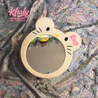 Gương soi mặt trang điểm để bàn hình Hello Kitty màu kem - 40KT189 (15x4.5x14cm) thumbnail