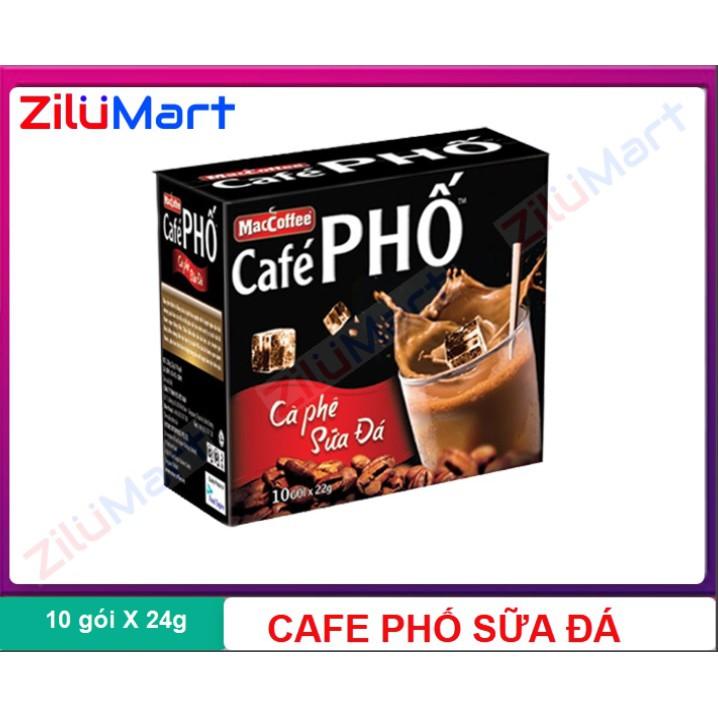 Cà phê phố sữa đá hộp 240g (10 gói)