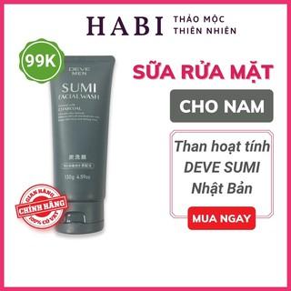 Sữa rửa mặt nam than hoạt tính Deve Men Sumi Facial Wash, sữa rửa mặt cho da dầu mụn 130g thumbnail