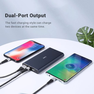 Hình ảnh TOPK I1006 Sạc Dự Phòng Cho iPhone Huawei Samsung Xiaomi Oppo Vivo Realme Hai Cổng Dung Lượng 10000mAh Có Màn Hình Điện Tử-2