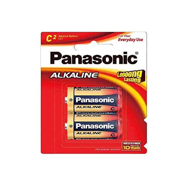 PIN TRUNG PANASONIC ALKALINE VỈ 2 VIÊN.