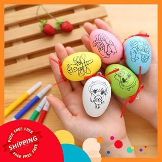 Quả trứng tô màu cho bé + Bút màu