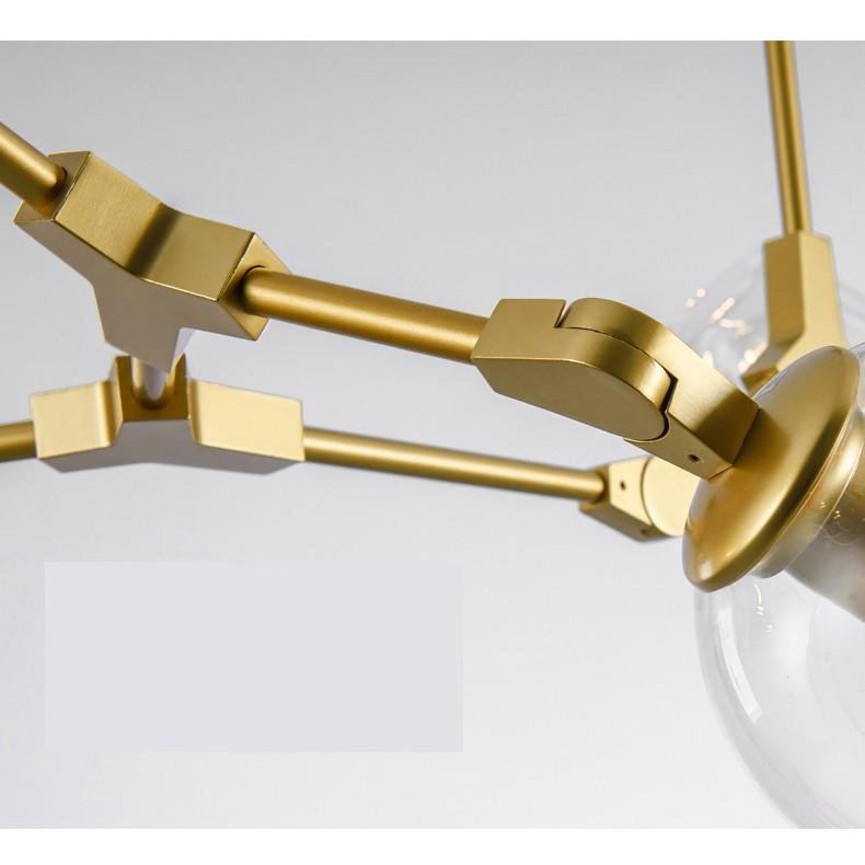 Đèn chùm thả MONSKY BRANLAW FELA 8 bóng - 12 bóng thắp sáng cao cấp phong cách châu âu sang trọng