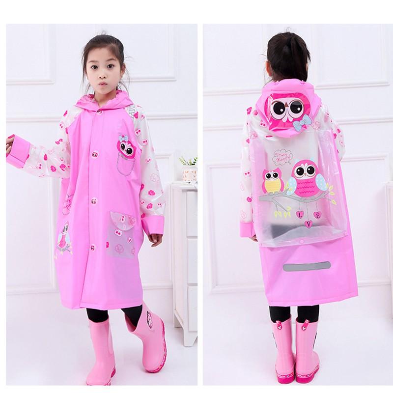 Áo mưa trẻ em cao cấp hình thú đáng yêu cho bé 4-10 tuổi BBShine – AM005