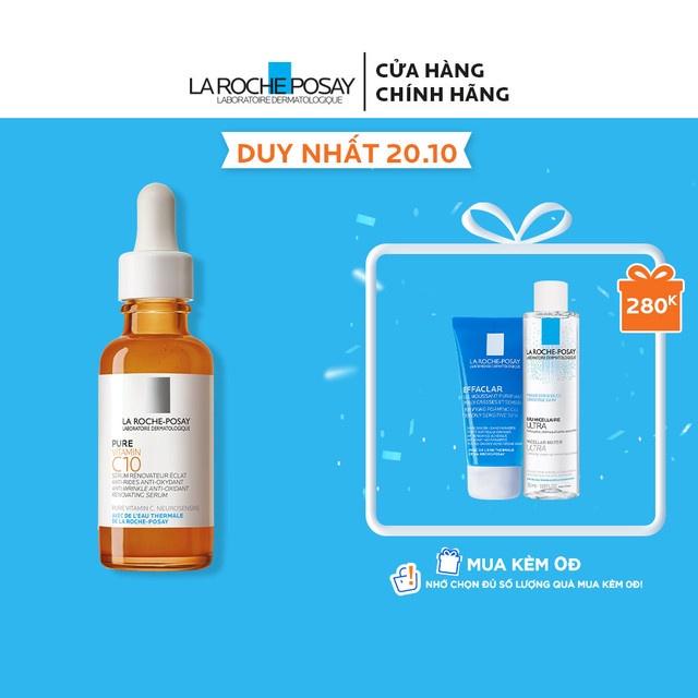 [Mã FMCGMALL giảm 8% đơn từ 250K] Dưỡng chất cải thiện làm sáng da La Roche Posay Pure Vitamin C10 30ml
