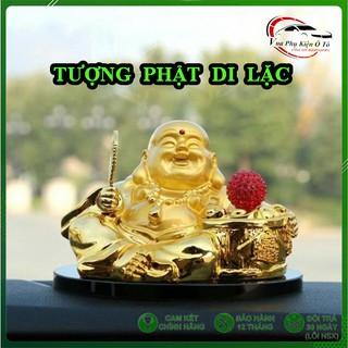 Tượng Phật Di Lặc chạy năng lượng mặt trời để bàn làm việc và taplo ô tô thumbnail